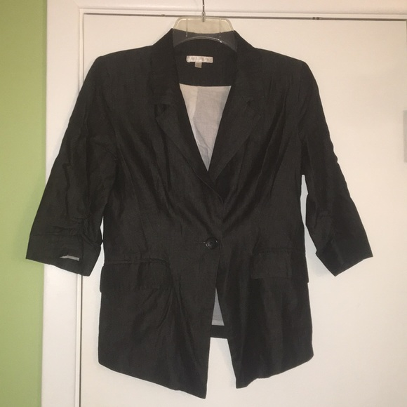 "just ginger Jackets & Blazers - Black ""denim"" blazer"
